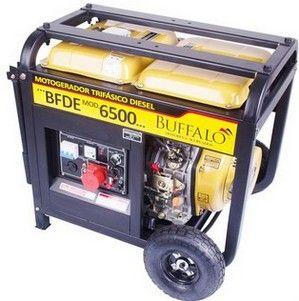 GRUPO GERADOR BUFFALO BFDE6500 5,000W / 5,500W Voltagem: 220V trifasico Partida Elétrica