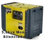 GRUPO GERADOR TOYAMA TDG8000SLE 5,5 KVA MONOFASICO BIVOLT CABINADO